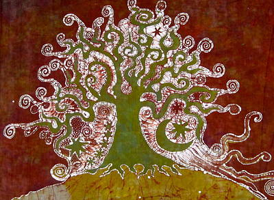 Tree On A Hill Art Print by Victoria Dresdner