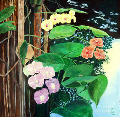 Painting - Tree Orchids by Nancy Czejkowski
