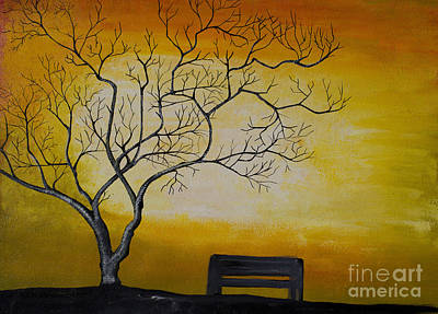 Painting - Tree Painting by Rekha Artz