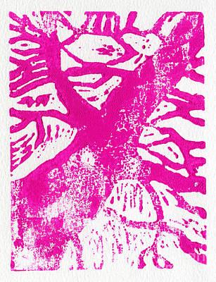 Tree Print Pink Print by Christina Rahm