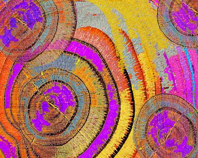 Tree Ring Abstract Horizontal Original by Tony Rubino