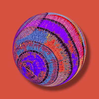 Tree Ring Abstract Orb Original by Tony Rubino