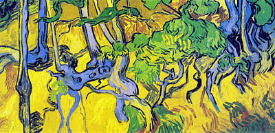 Digital Art - Tree Roots And Tree Trunks by Vincent Van Gogh
