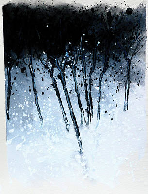 Modern Abstract Painting - Tree Serenade by Stuart Roy