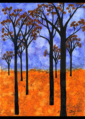 Autumn Landscape Mixed Media - Tree Silhouette 2 by Joy Lavery