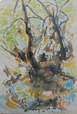 Painting - Tree Soliloquy by Esther Newman-Cohen