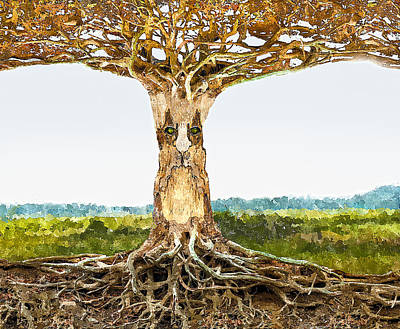 Tree Roots Digital Art - Tree Spirit by Rick Mosher