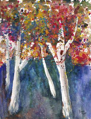 Painting - Tree Splatter by Clara Sue Beym