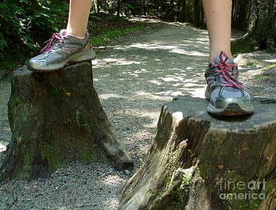Photograph - Tree Stump Stilts by Kerri Mortenson