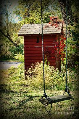 Tree Swing By The Outhouse Art Print by Paul Ward