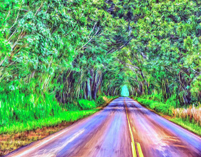 Oahu Painting - Tree Tunnel Kauai by Dominic Piperata