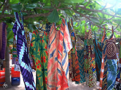 Photograph - Dresses On A Tree In Ghana by Wayne King