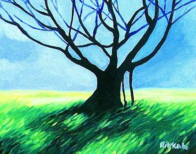 Painting - Tree With Blue by Rivkah Singh