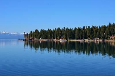 Treeline Lake Tahoe Art Print