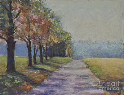Treelined Road Art Print by Joyce A Guariglia