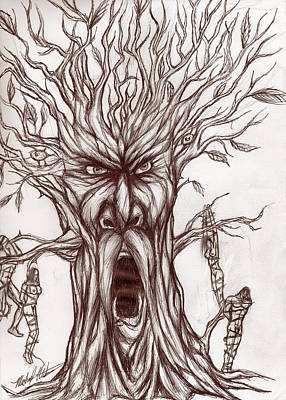 Drawing - Treeman by Michael Mestas