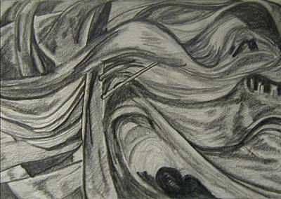 Wall Art - Drawing - Trees After Ec by Kerrie B Wrye
