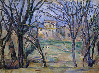 Trees And Houses, 1885-86 Art Print by Paul Cezanne