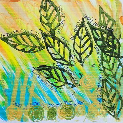 Trees And Poetry  Art Print by Teresa St George