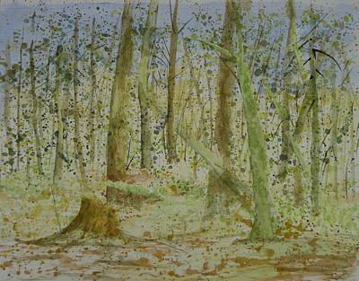 Painting - Trees Around Newhalem Campground by Joel Deutsch