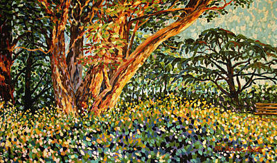 Painting - Trees At Sunset In Lafayette Park by Bonnie Follett
