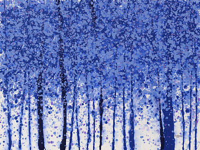 Painting - Trees At Twilight 21 by Jerome Lawrence