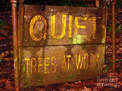 Trees At Work Art Print by Christine Stack