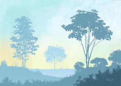 Digital Painting - Trees Everywhere by Anthony Mwangi