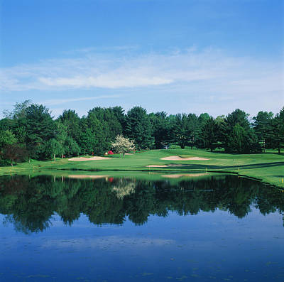Wilmington Photograph - Trees In A Golf Course, Wilmington by Panoramic Images