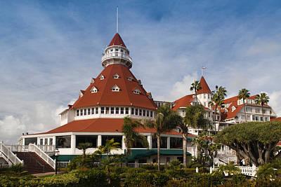 Coronado Photograph - Trees In A Hotel, Hotel Del Coronado by Panoramic Images