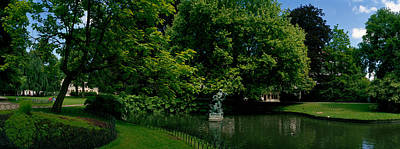Brugge Photograph - Trees In A Park, Queen Astrid Park by Panoramic Images