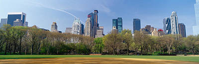 Public Park Photograph - Trees In A Park With Buildings by Panoramic Images