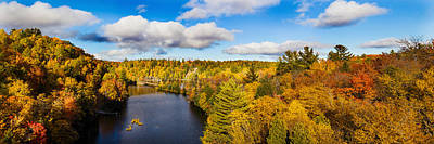 Marquette Wall Art - Photograph - Trees In Autumn At Dead River by Panoramic Images