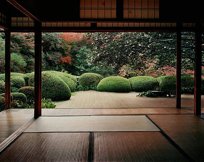 Honshu Photograph - Trees In Front Of A Temple, Shisendo by Panoramic Images