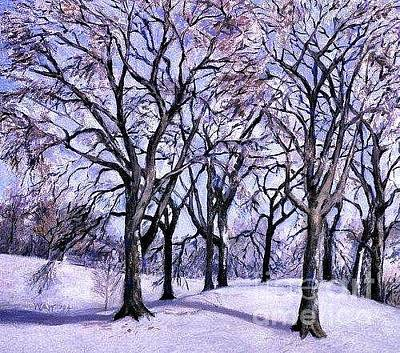Painting - Trees In Snow by Nancy Wait