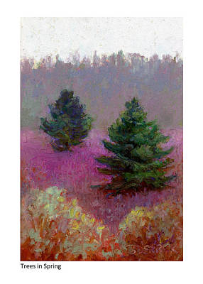 Pastel - Trees In Spring by Betsy Derrick