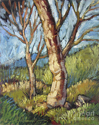 Painting - Trees In Spring by Randy Wollenmann