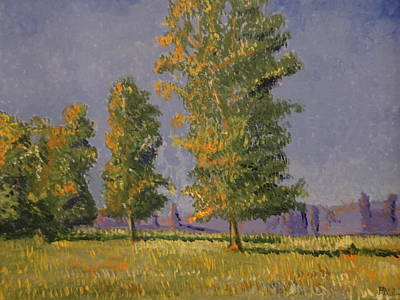 Painting - Trees In The Summer by Paul Benson