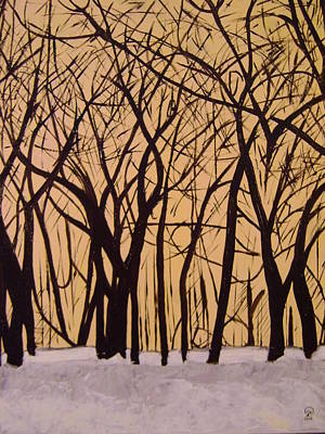 Painting - Trees In The Winter by Therese Legere