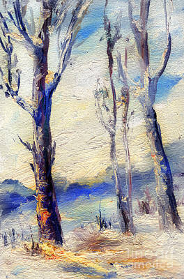 Painting - Trees In Winter by Daliana Pacuraru