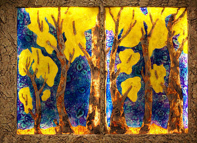 Mixed Media - Trees Inside A Window by Christopher Schranck