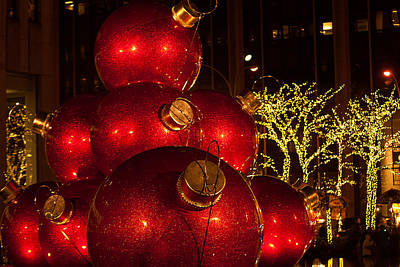 Photograph - Trees Lights And Ornaments by Paul Mangold