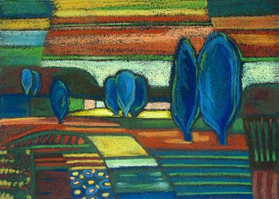 Trees Of Blue Art Print by Gergana Valkova