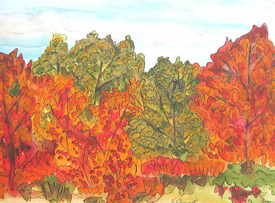 Trees Of Fall Art Print