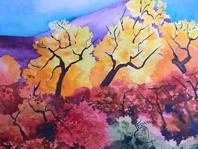 Painting - Trees Of Ghost Ranch by Jann Elwood
