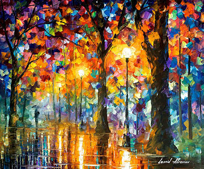 Free Painting - Trees Of Magic - Palette Knife Oil Painting On Canvas By Leonid Afremov by Leonid Afremov