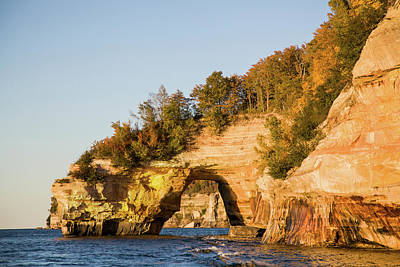 Trees On Cliff, Lake Superior, Pictured Art Print