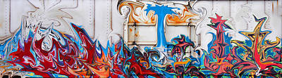 Graffiti Photograph - Trees On Fire by Sylvia Thornton