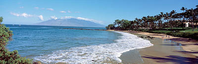 Molokai Photograph - Trees On The Beach, Molokai, Maui by Panoramic Images