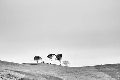 Trees On The Horizon Art Print by Georgia Fowler